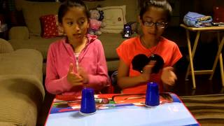 Our granddaughters Daniela and Andrea - cover of The Cup Song - 05-31-13