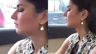 Katrina Kaif FUNNY Video Sleeping In Car