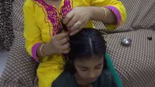 how to do hair oil massage at home