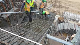 Reinforcement and form work of RC Stair