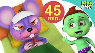 Hindi Rhymes |Aaj Mangalwar hai |आज मंगलवार है चूहें को बुखार है - KidsOne
