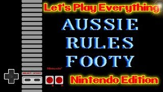 Let's Play Everything: Aussie Rules Footy