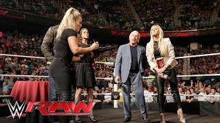 Natalya & Charlotte collide during the WWE Women's Championship Contract Signing: Raw, May 16, 2016