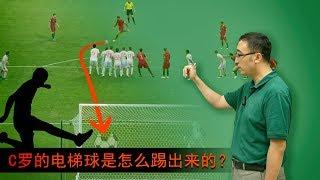 2018世界杯 C罗绝技电梯球上演帽子戏法,精妙绝伦!李永乐老师讲解如何踢出电梯球 香蕉球和落叶球