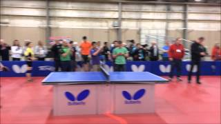 Arnold Schwarzenegger Table Tennis Demonstration 2015