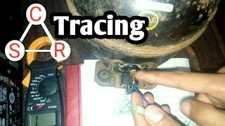 how to trace common running and starting point of refrigerator compressor in urdu/hindi language