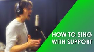 HOW TO SING WITH SUPPORT - SING WITH THE DIAPHRAGM - Phil Moufarrege @ GROW-THE-VOICE.com