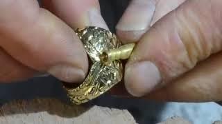Handmade Gold Ring DragonEye 18kt Gold Credit  Scaffoal