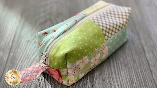 How to Make a Patchwork Pouch | a Shabby Fabrics Tutorial