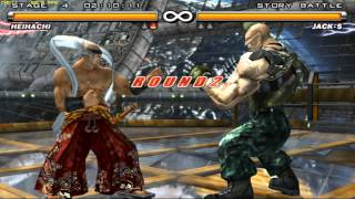 Tekken 5 - Heihachi Mishima - Story Mode - Ultra Hard - PCSX2 1.2.1