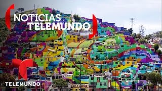 Convierten barrio de Pachuca, México, en colorido mural para combatir violencia | Noticias | Noticia