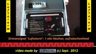 Luftalarm - Funktionsprobe mechanisches Programmschaltwerk Sirene - air raid-signal