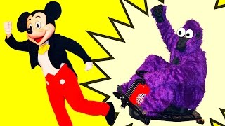 MICKEY MOUSE Disney Mickey Has to Catch Red + Green + Purple Gorilla Funny Surprise Video