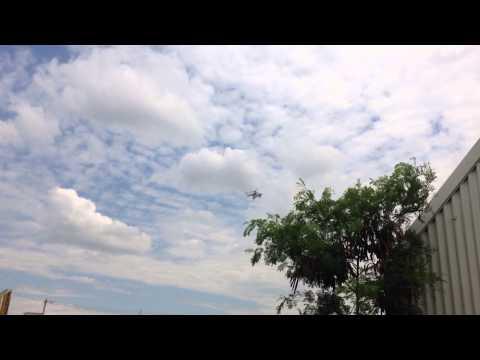 UN MINUSTAH helicopter Mil Mi-17 landing at LOG Base and Charlie Camp