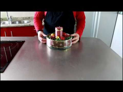 Tutorial de Navidad Centro de Mesa Navideño How to make a christmas centerpiece