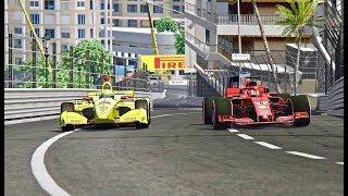 Ferrari F1 2018 vs IndyCar 2018 - Monaco