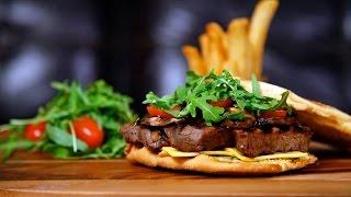 Steak Sandwich / ستيك ساندوتش بصلصة الريحان