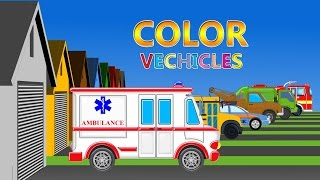 Street Vehicles With Color LearnIng Vehicles | Car Cartoon | Video For Kids