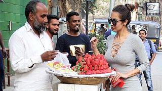 Malaika Arora Spotted Bargaining For Strawberries On Streets   LehrenTV