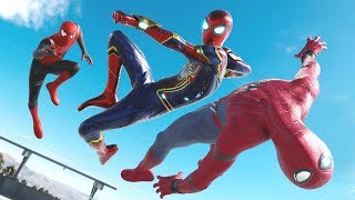 Spider-Man HOMECOMING vs. IRON SPIDER vs.  Spider-Man FAR FROM HOME | EPIC BATTLE!