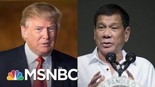 President Trump Blurts Classified Submarine Intel To Philippine President   Rachel Maddow   MSNBC