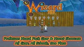 Wizard101 Professors Hoard Pack Full Gear Showcase All Gear, All Schools & Mounts