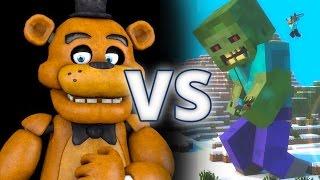 FNAF Vs Minecraft Zombies - Epic Battle - Left 4 dead 2 Gameplay (Left 4 dead 2 Custom Skin mods)