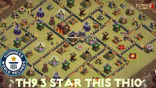 STRONGEST TOWN HALL 9 ATTACK STRATEGY 2018! TH9 3 STAR ATTACKS IN WAR!! - CLASH OF CLANS(COC)