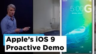 Apple iOS 9 Proactive Intelligence Demo at WWDC 2015