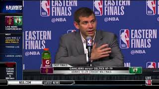 Brad Stevens On Losing To LeBron James Once Again:We Got Beaten By The Best Player On This Planet!