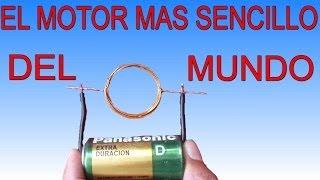 El motor mas sencillo del mundo (Muy fácil de hacer)