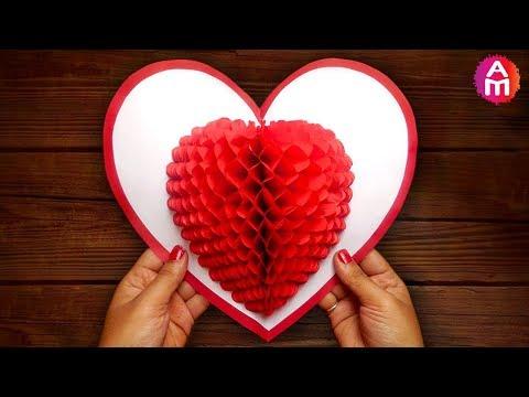 Xxx Mp4 DIY 3D Heart ❤️ Pop Up Card Valentine Pop Up Card 3gp Sex