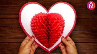 DIY 3D Heart ❤️ Pop Up Card | Valentine Pop Up Card