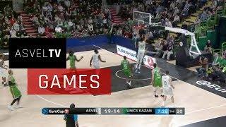 ASVEL Basket vs Unics Kazan : highlights