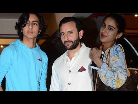 Xxx Mp4 Saif Ali Khan Poses With Son Ibrahim Khan While Daughter Sara Khan Dodges Media SpotboyE 3gp Sex