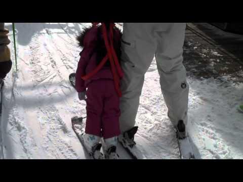 Ski Time: Tiger-Dad, Sleeping-Daughter