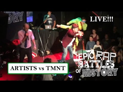 ARTISTS vs TMNT - Epic Rap Battles of History Live World Tour 2015 @ The Whisky