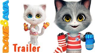 😻 Three Little Kittens  – Trailer| Nursery Rhymes and Baby Songs from Dave and Ava 😻