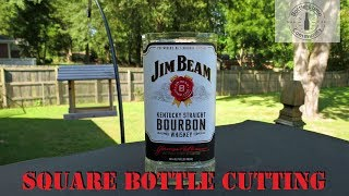 How To Cut A Square Glass Bottle