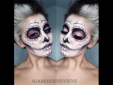 Xxx Mp4 Sugar Skull Makeup Tutorial Jamie Genevieve 3gp Sex