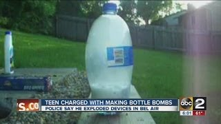 Harford County teen charged with making soda bottle bombs