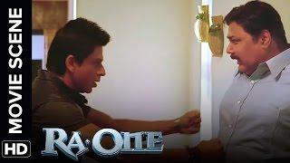 Shah Rukh's funny incident | RA.One | Movie Scene