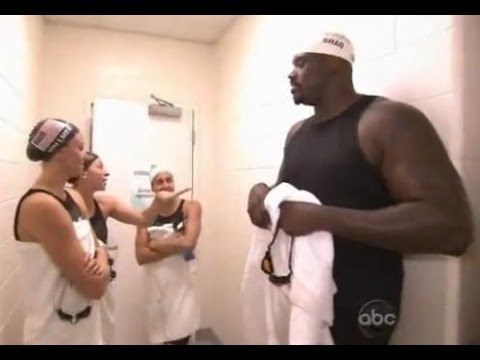 Shaquille O Neall vs Michael Phelps Swimming Competition