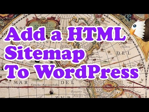 How to add a HTML Sitemap to WordPress