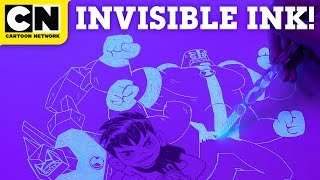 Drawing Ben 10 With INVISIBLE INK! | Let
