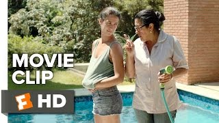 The Second Mother Movie CLIP - Pool (2015) - Helena Albergaria Movie HD