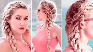 4-strand chain braid hairstyle for party/everyday ★ Medium long hair tutorial