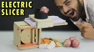 How to Make Onion Slicer Machine at Home
