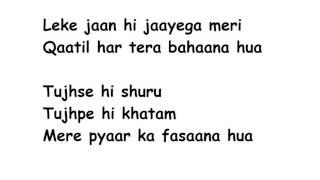 ZAALIMA Lyrics Full Song Lyrics Movie - Raees