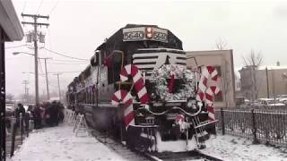 Full HD 60 FPS: Chasing the CSAO Santa Train from Freehold to Jamesburg 12/9/17